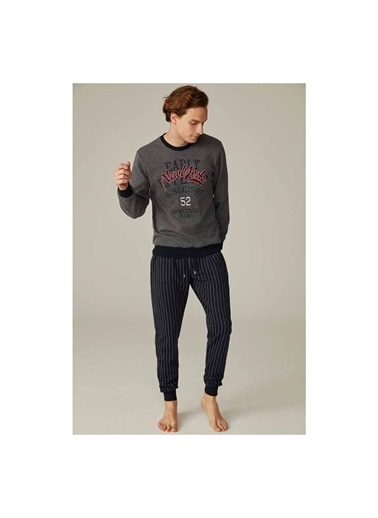Feyza Pijama Takım Lacivert